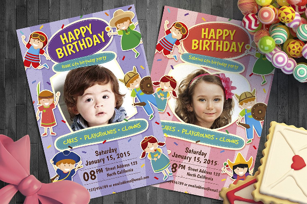 Kid Birthday Invitation Design Flyer