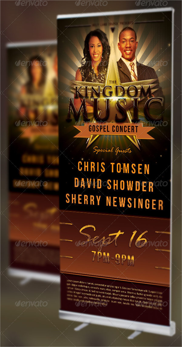 Kingdom Music Church Banner Templates