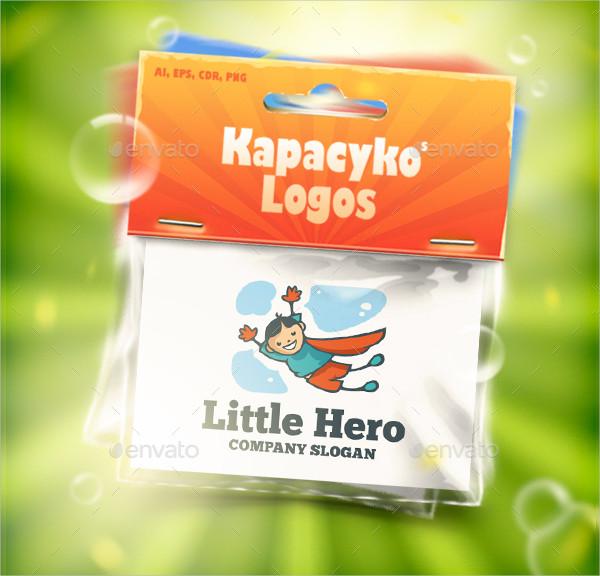 Little Super Hero Logo Template