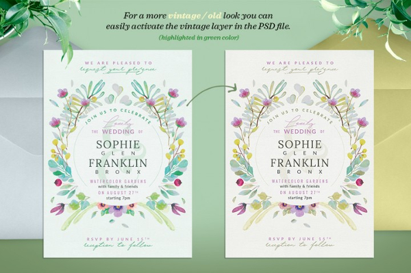 Lovely Wedding Card Template