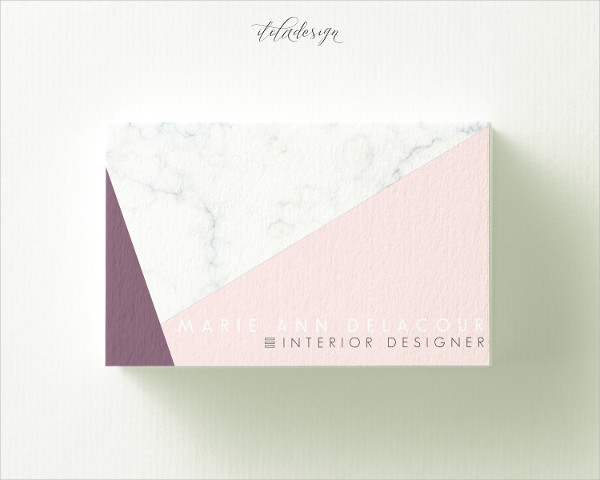 Marble Triangle Business Card Design Template