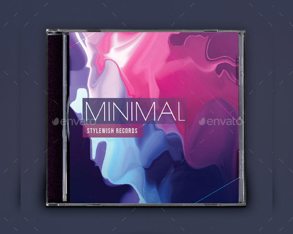 Minimal CD Cover Artwork Template