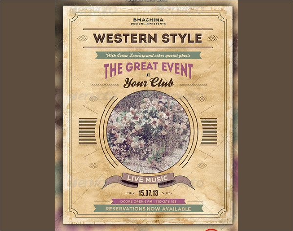 Modern Western Style Poster Templates