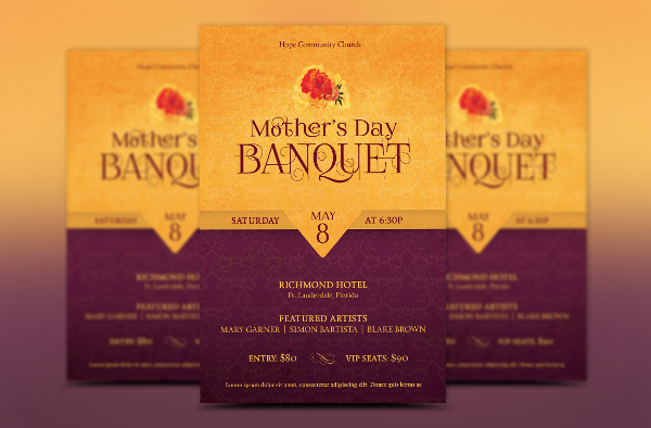 Mothers Day Banquet Event Flyer