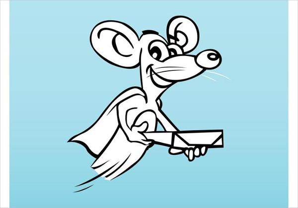 Mouse Superhero Logo Template