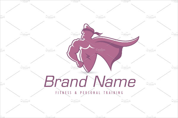 Muscular Super Hero Logo Template