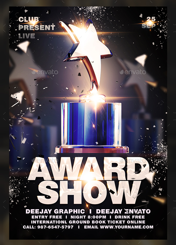 19  award flyer templates