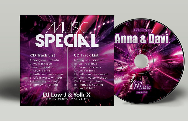 Music CD Cover Templates
