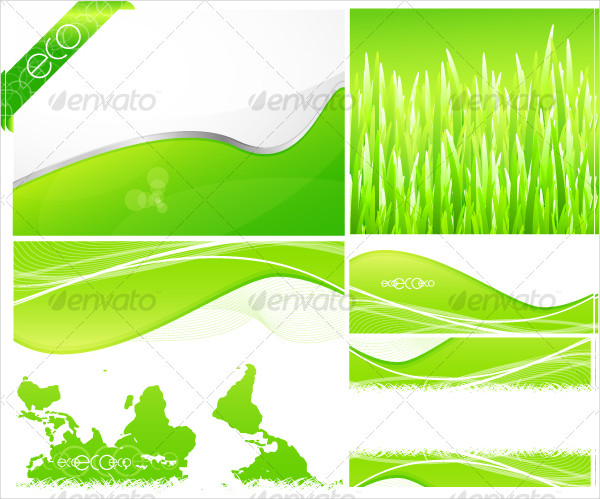 Pack Of Green Backgrounds And Designs