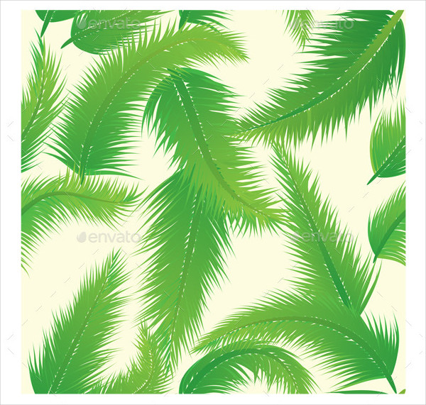 Palm Leaf Vector Pattern Template