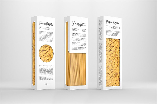 Pasta Food Package Mockup
