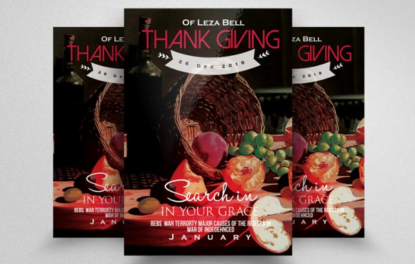 Perfect Thanks Giving Flyer Template