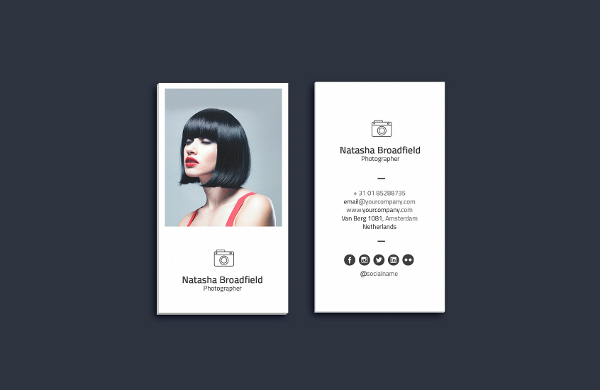 Corporate Photographer Business Card