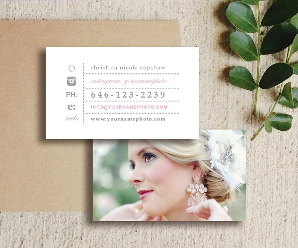 Wedding Photography Visiting Card