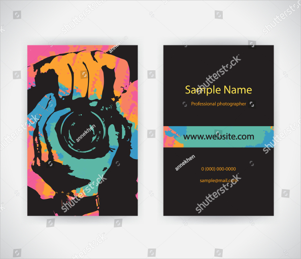 Photographer Services Business Cards