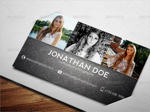 Attractive Photographer Business Card Template