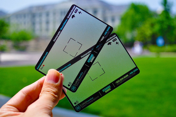 Plastic Photographer Business Cards