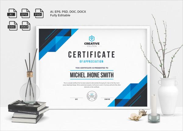 Print Certificate Design Templates