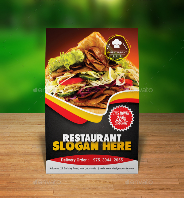 Table Tent Templates Free Printable PDF JPG PSD EPS Downloads - Restaurant table tent template