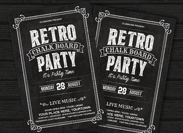 Retro Chalkboard Flyer