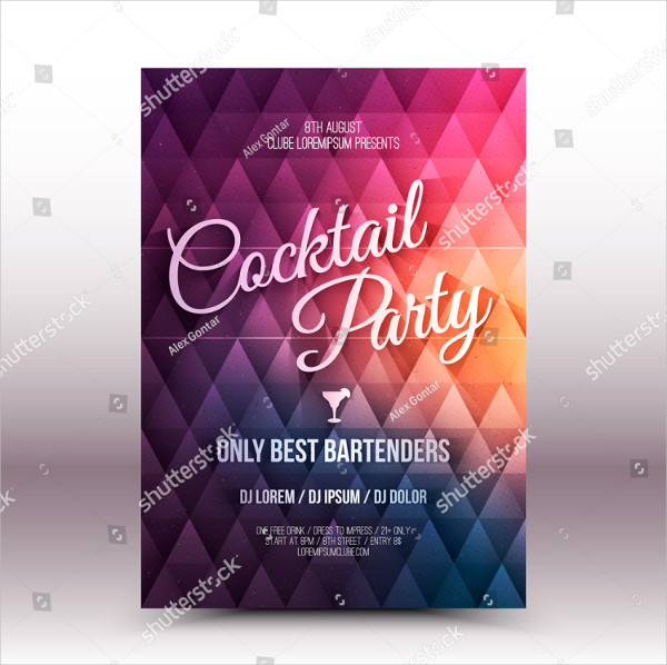 Retro Drinks Party Flyer Templates