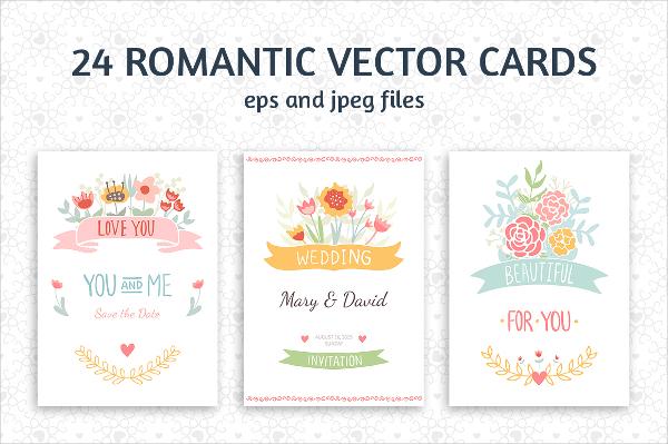 Romantic & Wedding Cards Template