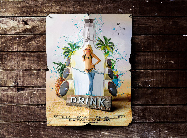 Sexy Drink Party Flyer Template