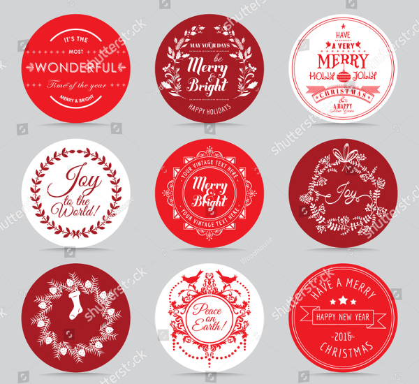 Simple Christmas Labels Template