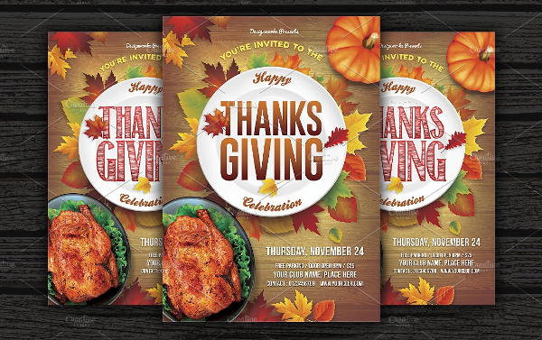Simple Thanks Giving Flyer Template