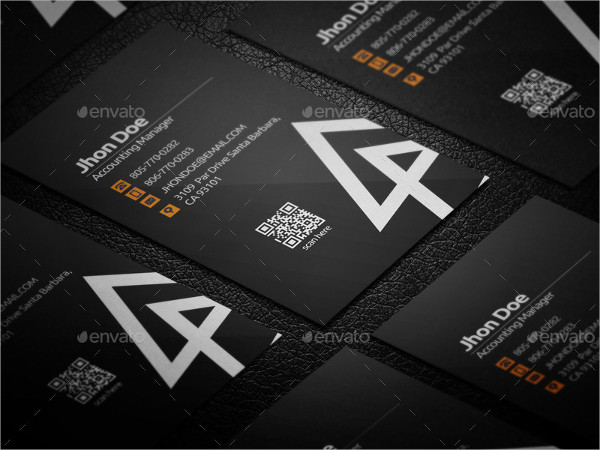 Simple Triangle Business Card