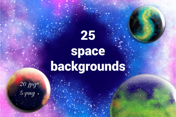 Space Square Backgrounds