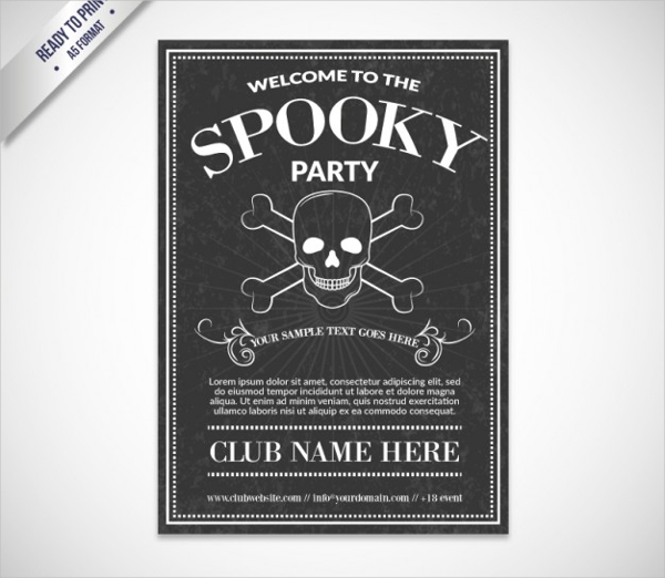Spooky Party Flyer Free Vector