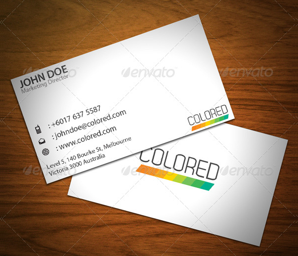 Clean Stripes Business Card Template