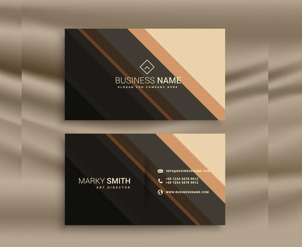 Stripes Business Cards With Diagonal Lines