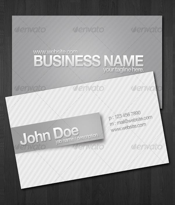 Stripes Design Business Cards