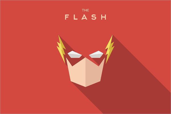 Super Hero Flash Logo Template