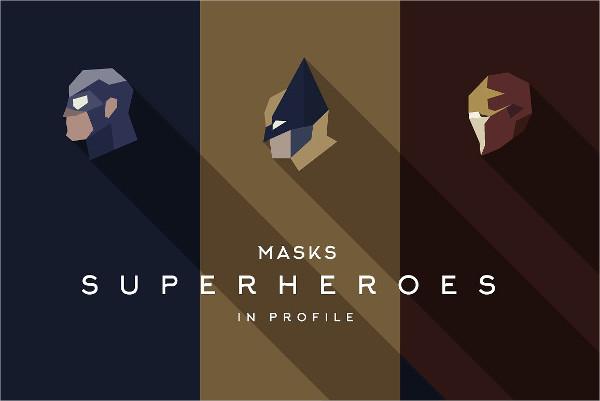 Super Heroes Masks Logo Template