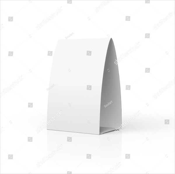 Tabel Tent Blank Template