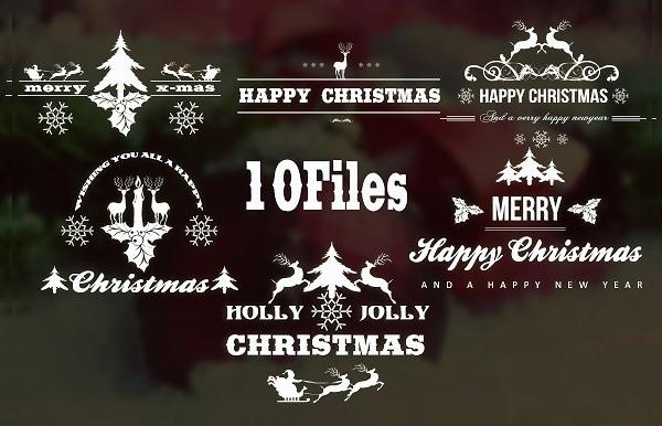 Ten Christmas Labels