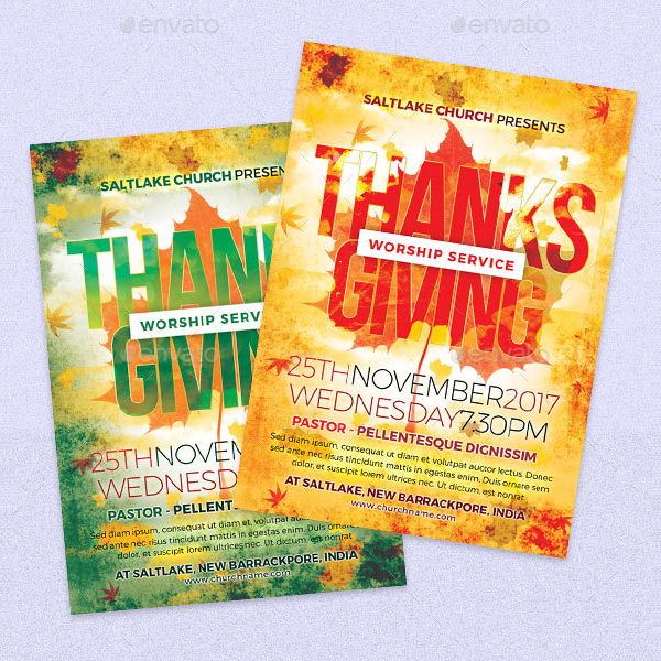 Thanks Giving Church Flyer Template