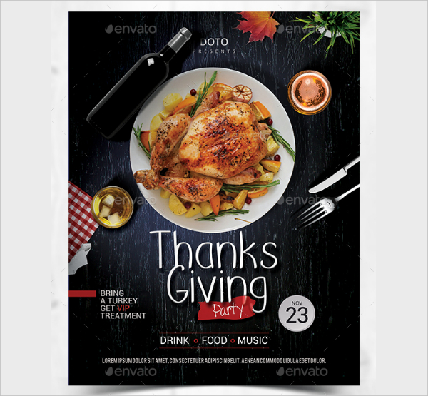Unique Thanks Giving Flyer Template
