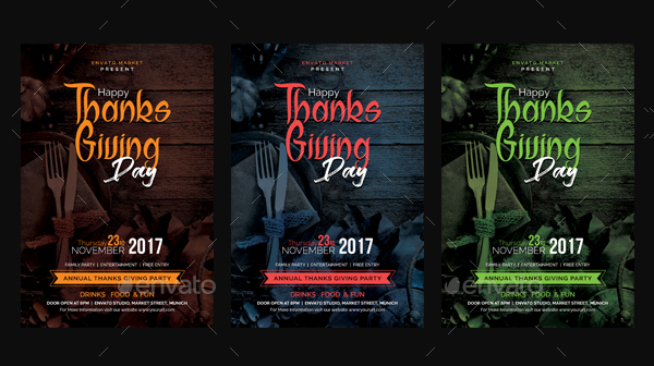 Thanks Giving Design Flyer Template