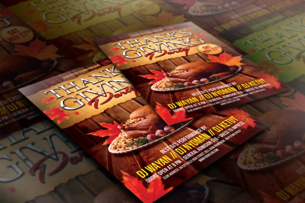 Thanks Giving Meal Flyer Template