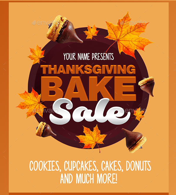 Thanksgiving Bake Sale Flyer Template
