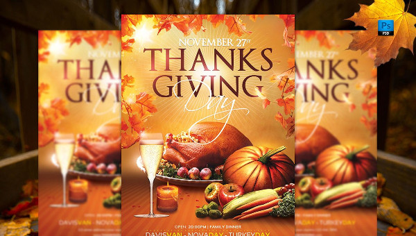 25 Thanks Giving Flyer Templates Free Premium Psd Eps Downloads