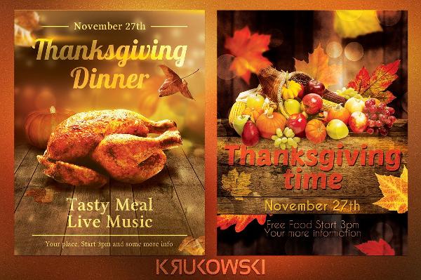 Thanksgiving Flyers Bundle