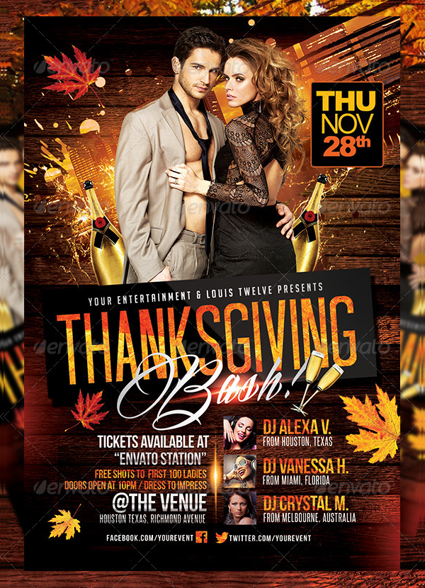 Thanksgiving or Autumn Bash Flyer
