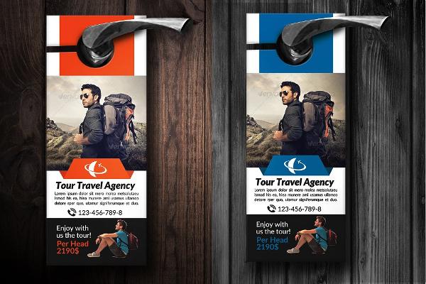 Tour Travel Agency Door Hanger Templates