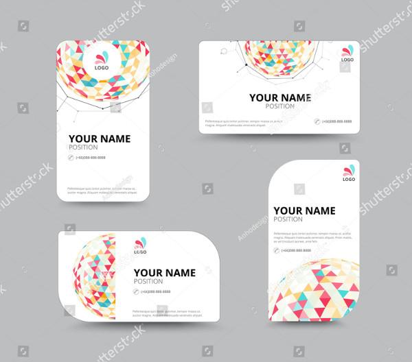 Triangle Design Business Card Template