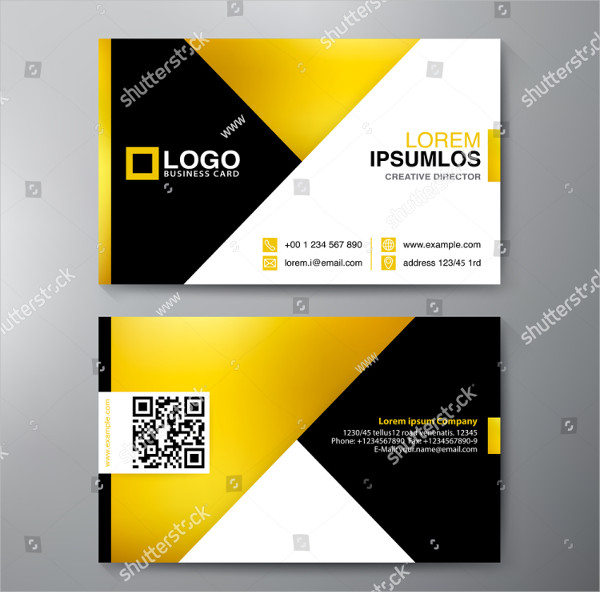 Modern Triangle Business Cards Template